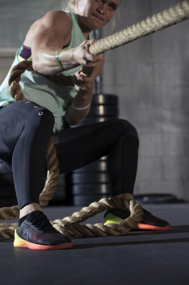 Katrin Davidsdottir wearing Reebok CrossFit Nano 7