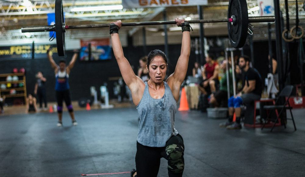 Athlete competing in the 2016 CrossFit Open