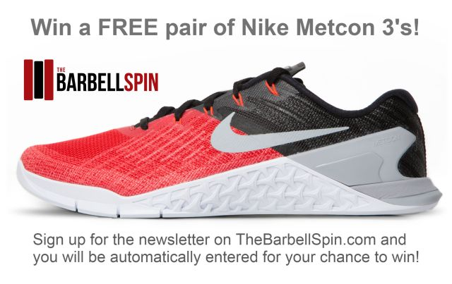 Nike Metcon 3 Giveaway for 2017 CrossFit Open