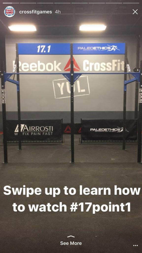 CrossFit Games Instagram Story