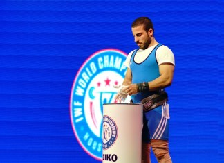 Kianoush Rostami at 2015 IWF World Championships (Photo by Lifting Life)