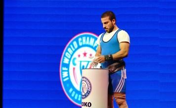 Kianoush Rostami at 2015 IWF World Championships (Photo by Lifting Life)