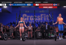 Katrin Davidsdottir and Sara Sigmundsdottir during 17.5 (screen cap)