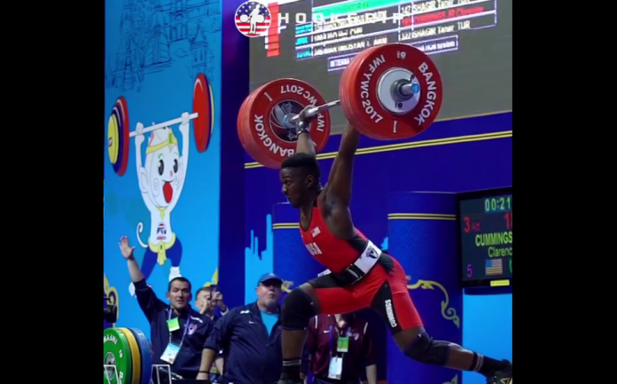 CJ Cummings sets Youth World Record Clean & Jerk at 2017 IWF Youth World Championships