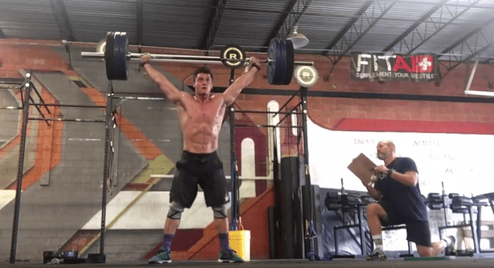 Travis Williams during 17.3 of the CrossFit Open