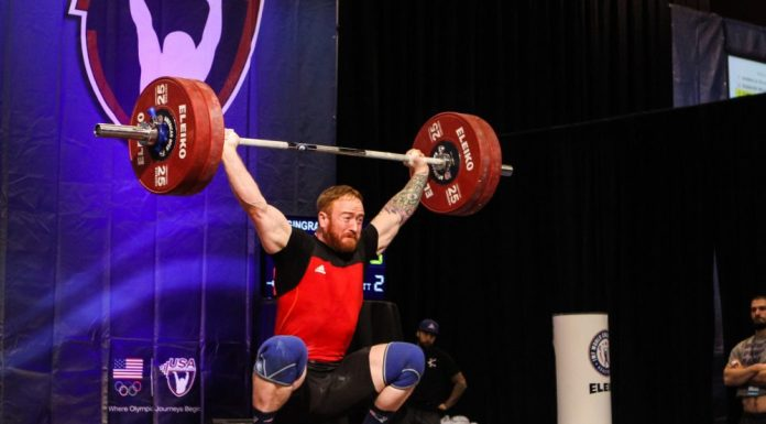 Michael Gingras at 2015 USAW American Open - Photo via Lifting Life