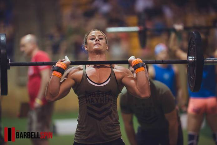 Sara Sigmundsdottir at the 2017 Mayhem for Mustard Seed Ranch competition