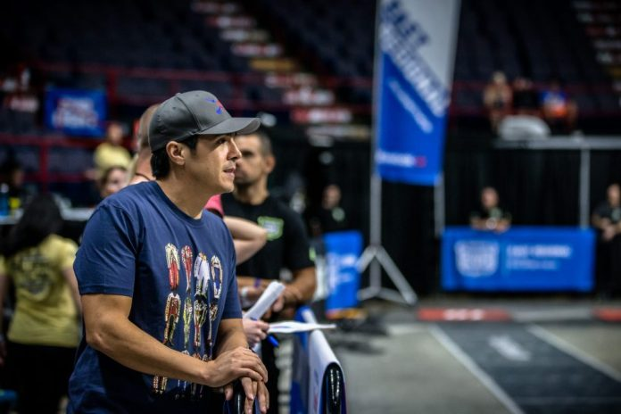 Dave Castro at the 2017 CrossFit East Regional. Photo courtesy of Reebok.