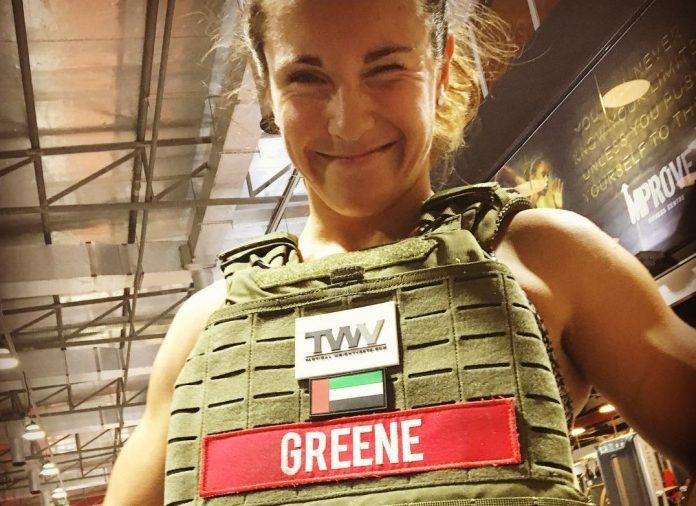 Jamie Greene in weight vest