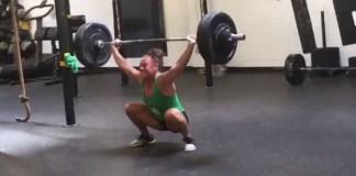 Emily Bridgers attempting 190lb snatch PR. @emilybridgers/Instagram