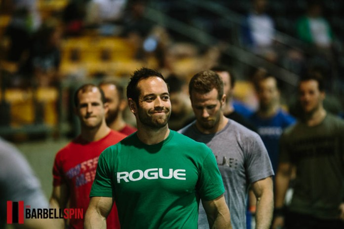Rich Froning at the 2017 Mayhem for Mustard Seed Ranch charity competition. Photo by The Barbell Spin