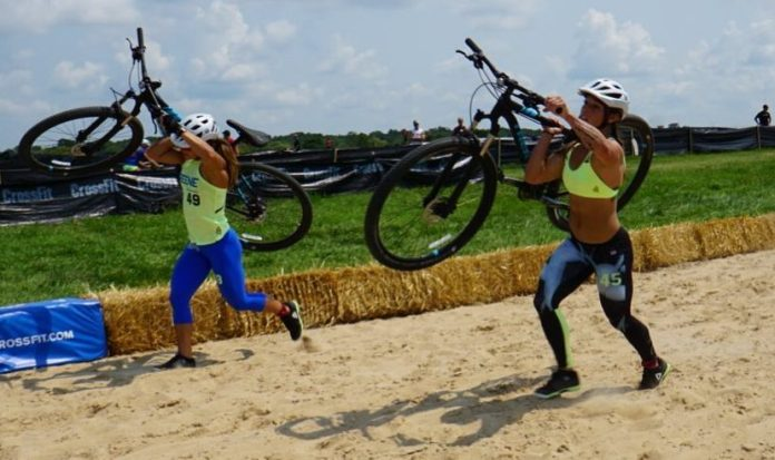 Jamie Greene and Bethany Branham during Cyclocross Time Trial. @thedavecastro/Instagram