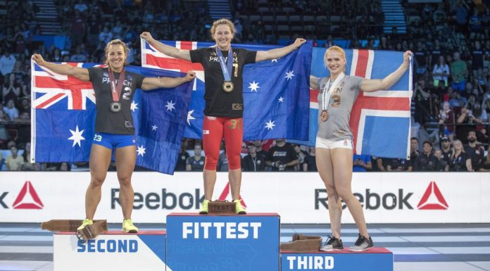 Women's podium at the 2017 CrossFit Games. Photo courtesy of CrossFit Inc.