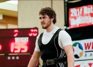 Jordan Cook during a weightlifting meet before he found CrossFit.