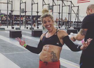 Brittany Chestnutt at the 2017 Granite Games. @bnnut/Instagram