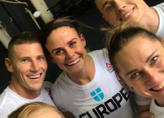 Team Europe preparing for the 2017 CrossFit Invitational. @anniethorisdottir/Instagram