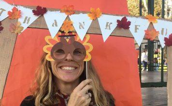Val Voboril gives thanks on Thanksgiving. @valvoboril/Instagram.