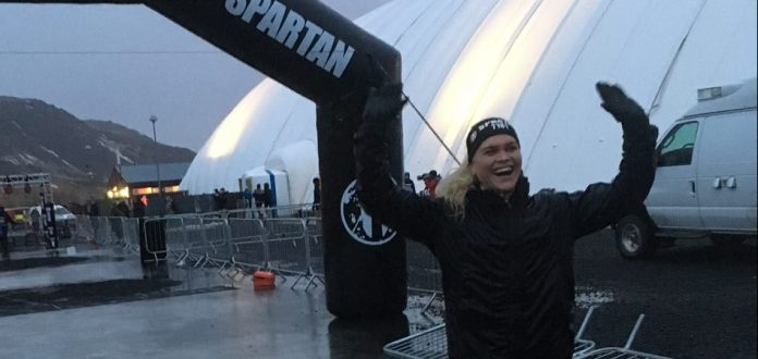 Katrin Davidsdottir finishes Spartan Race in her home country, Iceland. @ascent_protein/Instagram