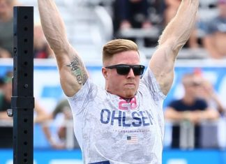 Noah Ohlsen during the CrossFit Total at the 2018 CrossFit Games. Photo courtesy of CrossFit Inc.