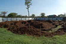 Only 2 days to dig all the footings