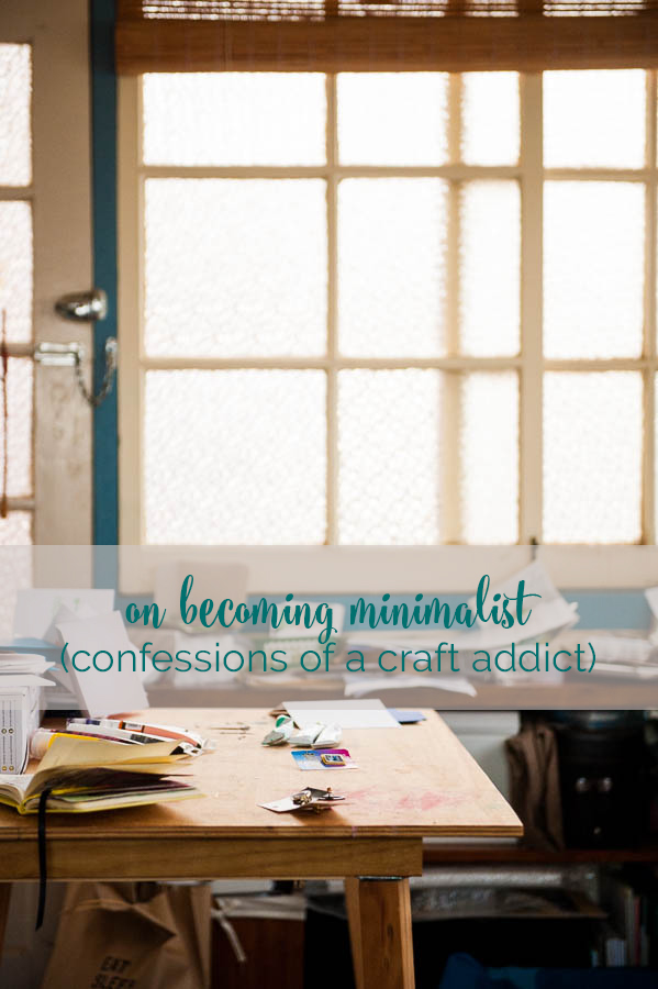 on being minimalist and creative