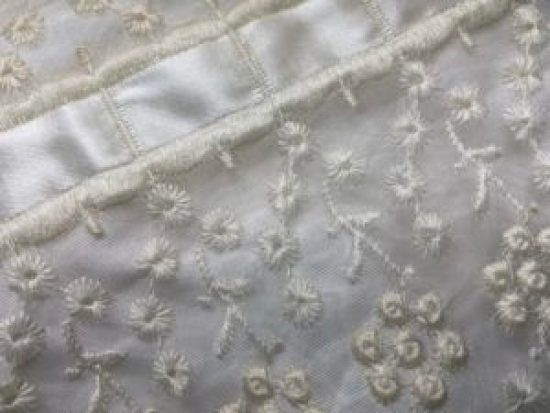 Laced and embroidery