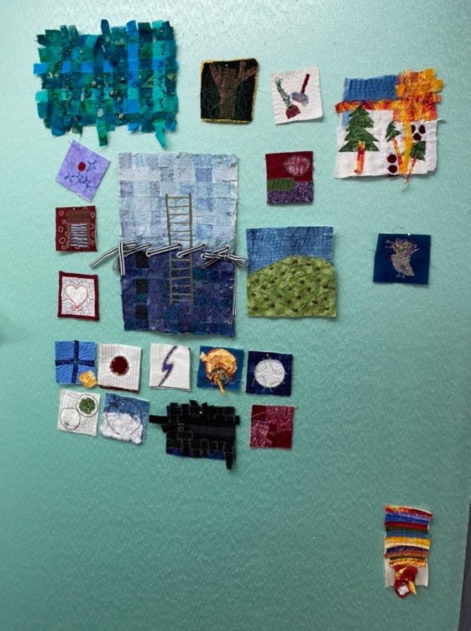 Small art quilt blocks
