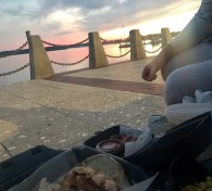 Another sunset picnic.