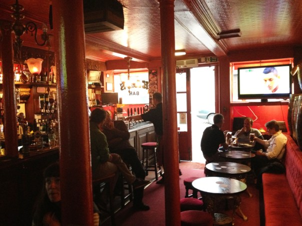 Kay's Bar is small - you can pretty much see the whole front bar in this photograph