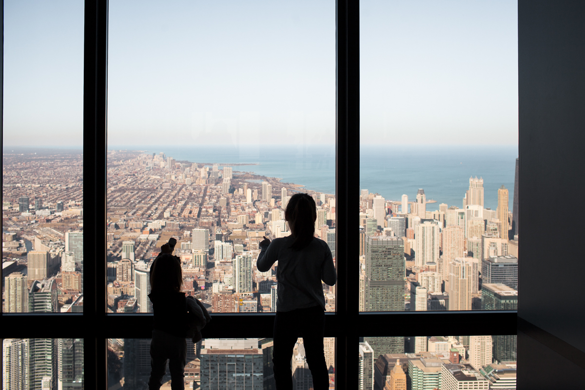 The view from the Skydeck Chicago, IL