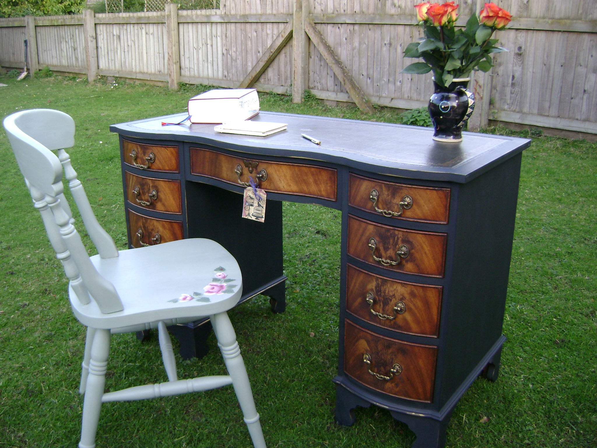 antique painted desk  The Barristers Horse