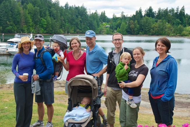 Our small group, on Thetis Island