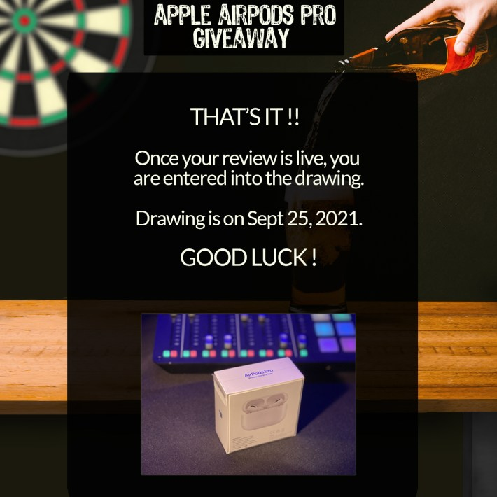 AirPods Pro Giveaway End