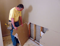 how to remove wood panelling