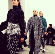 @luckymagazine: Structured and textured at @proenzaschouler #nyfw