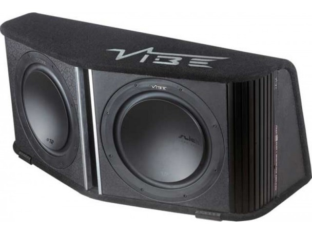 Vibe 12quot Active Car Sub Box Subwoofer Wiring Kit And Amplifier