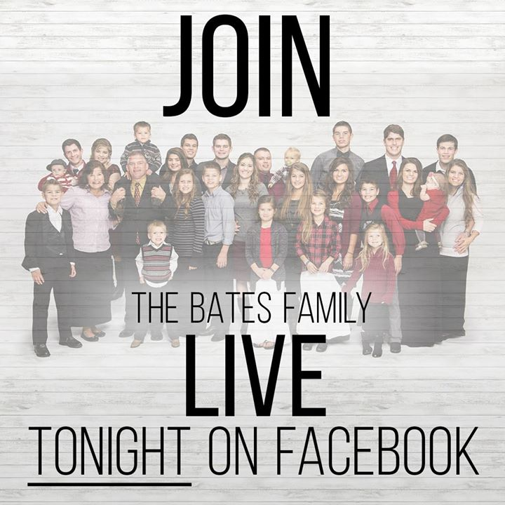 Join the Bates Family LIVE on Facebook tonight at 8:45 PM ET! Comment your…