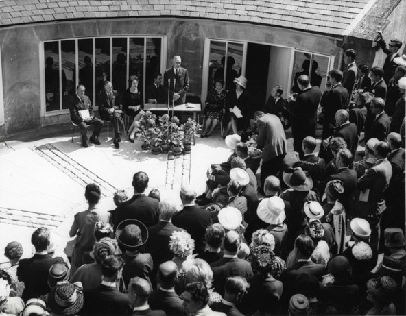 The opening of Folk Art at the Old Stables, 1962
