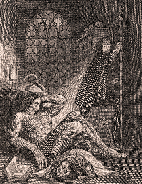 Mary Shelley's Frankenstein by Theodore Von Holst (1810 – 1844), Tate Britain. Private collection, Bath