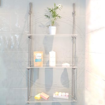Transparent Shelve with Grey Rope 1