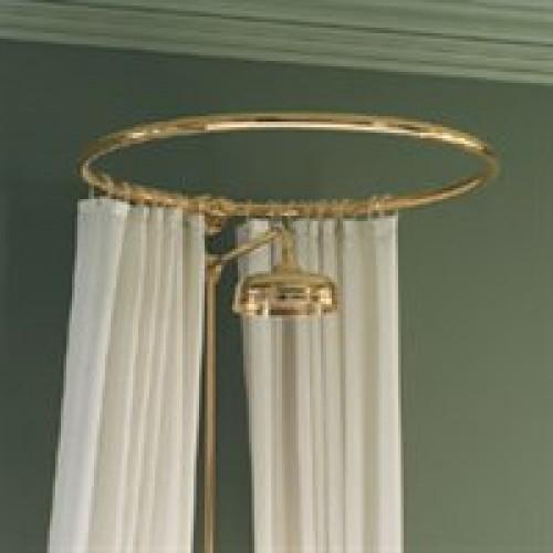 circular shower curtain rail wall