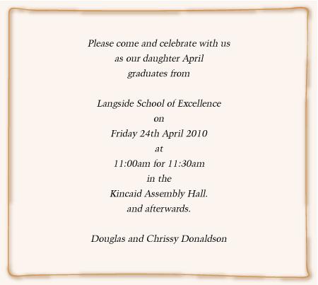 Graduation Invitation Wording For Ball And Prom Invites