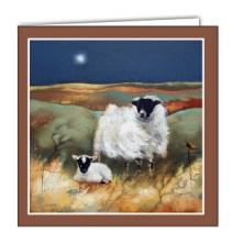 Evening on the Moor Art card by Lesley McLaren