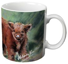 Oighrig's two day old bull calf - Ceramic Gift Mug by Hilary Barker