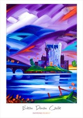 Eilean Donan Castle (Purple) A3 Art Poster