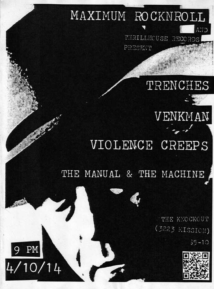 thrillhouse records at the knockout: trenches violence creeps