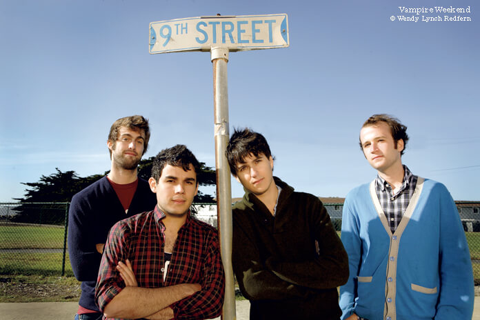 Vampire Weekend photographed in San Francisco, CA 2008 *Higher Rates Apply**NoTabloids/SkinMags* © Wendy Lynch Redfern / Redferms 2008