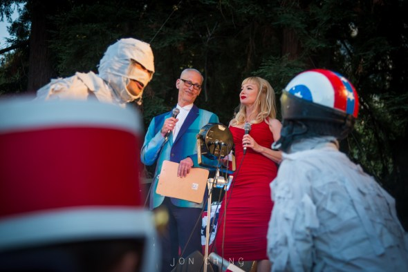 John Waters & The Mummies at Burger Boogaloo, by Jon Ching
