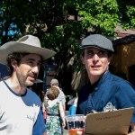 Organizer Josh Windmiller and The Easy Leaves' Kevin Carducci at the Railroad Square Music Festival, by Estefany Gonzalez