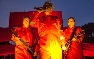DEVO at Burger Booglaoo 2018 in Mosswood Park, by Terry Gatechair